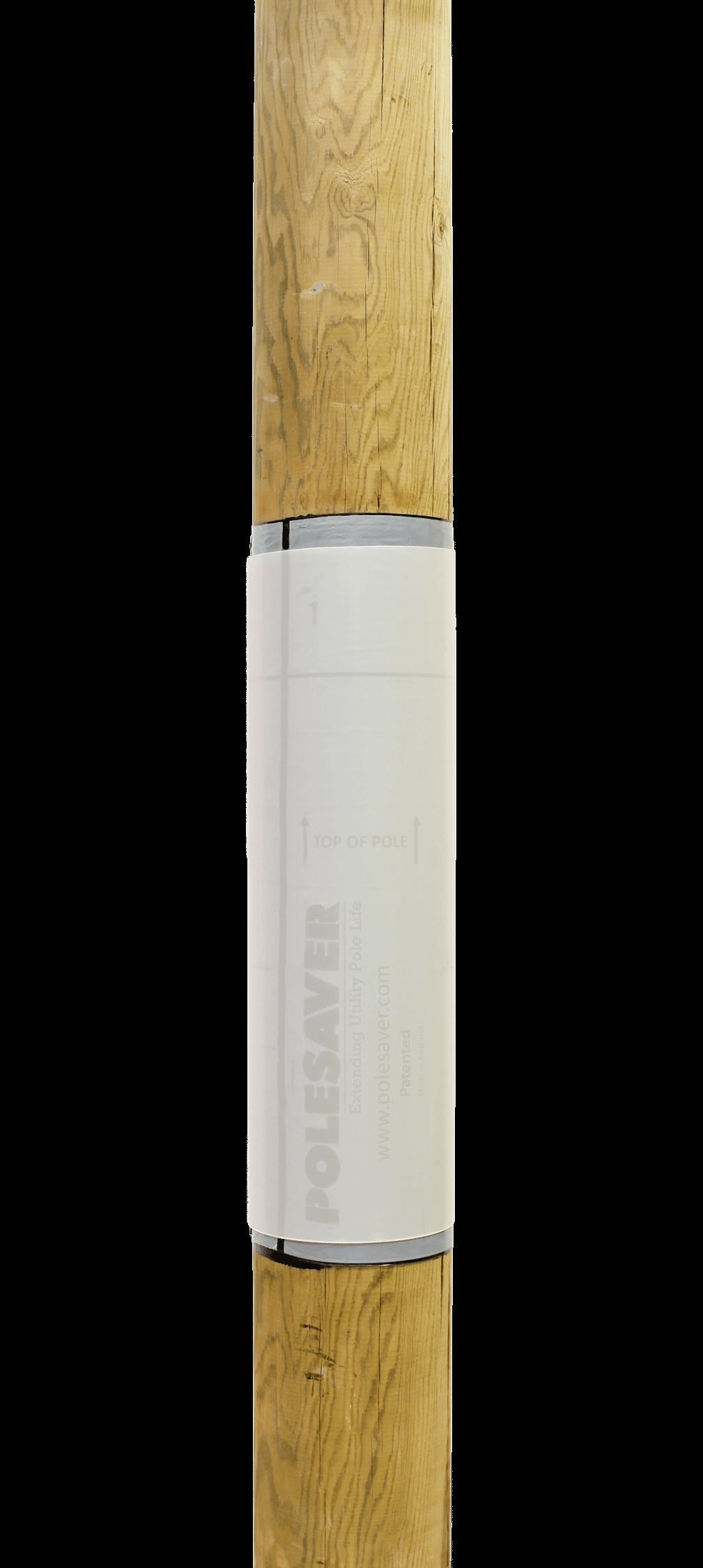 Polesaver Plus shown mounted on a wooden utility pole